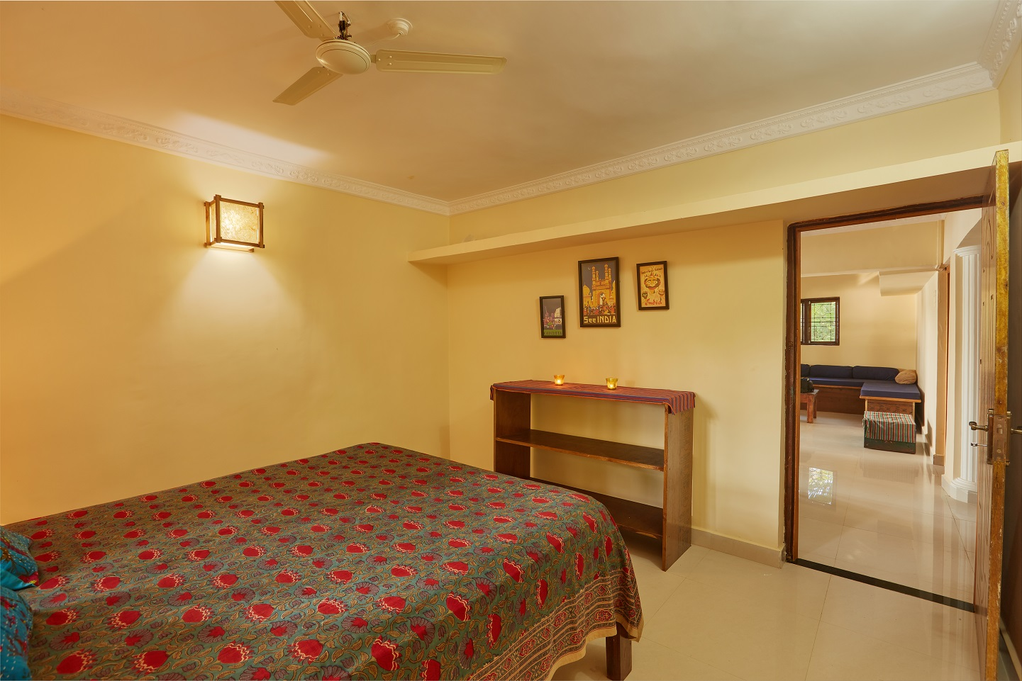 Two Bedroom Self-Service AC Apartment, Talpona, Goa bedroom 1