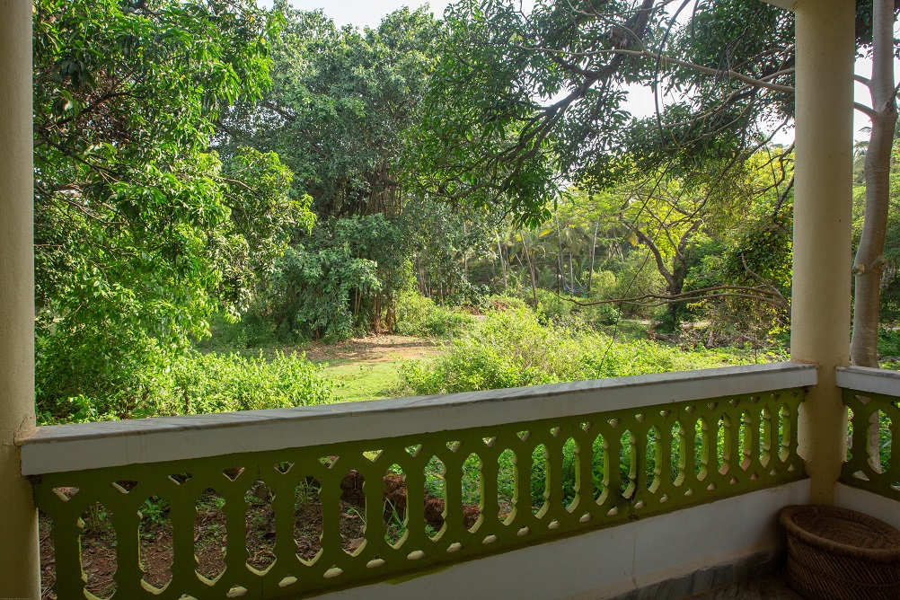 One Bedroom AC Apartment Patnem -  Balcony view